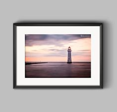 New Brighton Lighthouse, Wirral, a fine art photograph