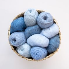 We're obsessed with these blue shades for spring... from @sandnesgarn on IG. Lacy Lingerie, Baby Blue, Soap, Throw Pillows, Knitting, Spring, Knits, Handmade, Shades