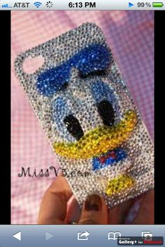 Donald Duck Sparkly Phone Case!!!