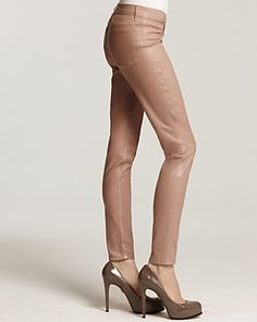 J Brand 901 Stonehenge Brand 901 Sparkle Coated Jeggings in Rose Gold | Bloomingdale's