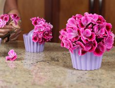 Cute little cupcake flower aranging vases.  Sets of 6.  Super cute for tea party or bday!!