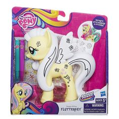 MLP My Little Pony Design-A-Pony Decorate with Markers Stickers Fluttershy  #Hasbro
