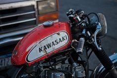 rivercityleather:Ricky's bike Kwakasaki