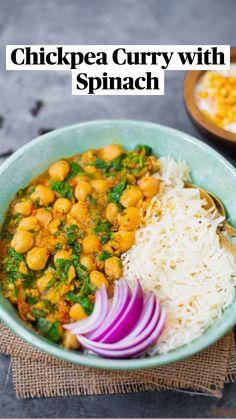 Vegetarian Curry, Tasty Vegetarian Recipes, Chickpea Recipes, Lentil Recipes, Curry Recipes, Vegetable Recipes, Gluten Free Recipes, Indian Vegetarian Recipes, Vegan Lentil Curry