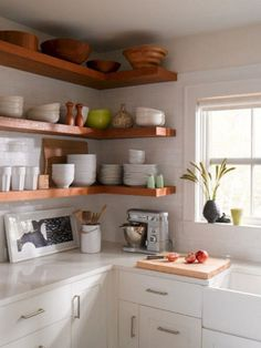 Ideas for small kitchen shelves ideas small kitchen shelf collections small kitchen ideas with open shelves . ideas for small kitchen shelves Kitchen Corner, Kitchen Shelves, Kitchen Storage, Kitchen Cabinets, Corner Shelves, Kitchen Small, Small Shelves, Kitchen Sink, Floating Shelves