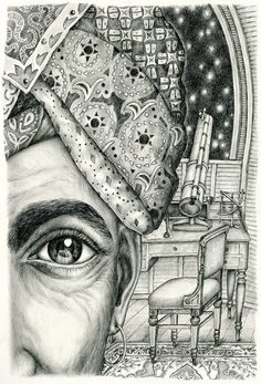 "Illustration by Gerda Märtens for ""Human Greatness"" by Dino Buzzati"