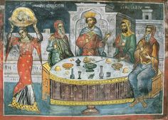 De dans van Salomé Typical Russian, Life Of Christ, Russian Icons, Byzantine Icons, Russian Fashion, Orthodox Icons, Illuminated Manuscript, Christianity, Miniatures