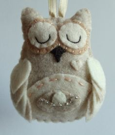 Expecting Mother Felt Owl Christmas Ornament