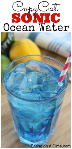 Easy Sonic Ocean Water Recipe - this is so fun and frugal to make at home with the kids.