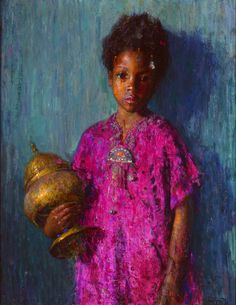 The Incense Burner By Hovsep Pushman, c. 1921. Oil on wood panel, Milwaukee ArtMuseum – Layton Art Collection
