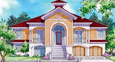Saint Martin-Front Elevation-Plan #6846