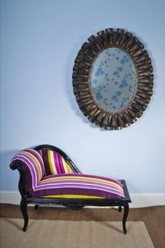 Delightful French Style Multicolour Small Chaise Longue ...but Not That Color.
