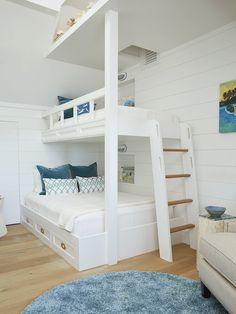 White bunk room White bunk room design White bunk room ideas White bunk room #Whitebunkroom
