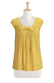 Bow belle polka dot print blouse
