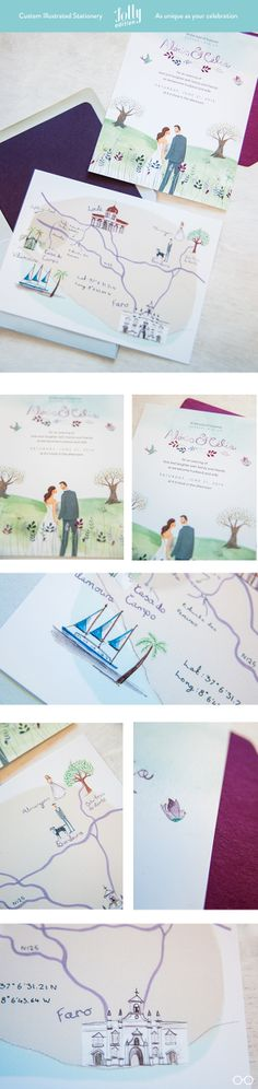 #customwedding #weddingstationery by Emma Block for @Jolly Banerjee Banerjee Edition.