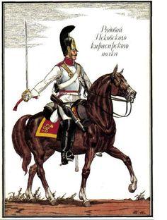 Guerres Napoléoniennes №14 Astrakhan cuirassier régiment soldat uniforme, 1812