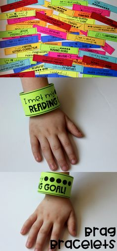 Brag bracelets are a great motivation strategy and classroom management idea! I would love these for back to school time! The print, cut, and go feature is so nice! Great for parent communication too! Classroom Behavior, Kindergarten Classroom, Future Classroom, Classroom Management Plan, Behaviour Management, Class Management, Behavior Incentives, Teaching Profession, Teacher Boards