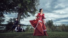 The girl in red by Benjamin Von Wong on Benjamin Von Wong, Victorian Party, Upcoming Series, Couple Shots, Photo Lighting, Model Mayhem, The Dreamers, Designer Dresses, Nice Dresses