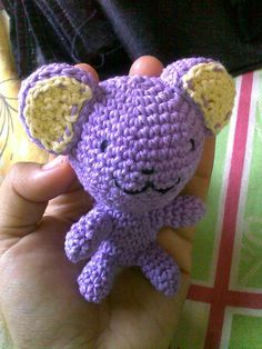 Ravelry: Purple Ami Bear free crochet pattern by Sita Wardhany