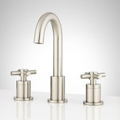 Keating Widespread Bathroom Faucet with Cross Handles #BathroomFaucets