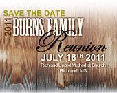 Rustic Style Barn Wood Family Reunion Post-Card Invitation - PDF Files to Print