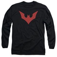 BATMAN BEYOND/BEYOND BAT LOGO - L/S ADULT 18/1 - BLACK -