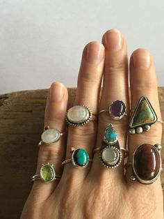 All rings made by Keeha Jewelry.