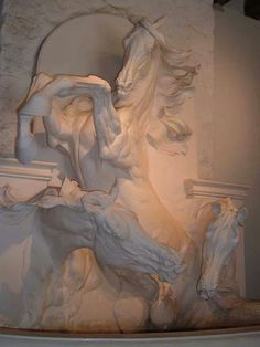 Frederick Jager, watertrough, Chantilly, France
