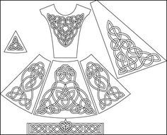Irish Solo Dress Colouring Page Dance Team Shirts Dance