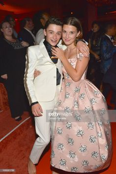 Millie Bobby Brown and Noah Schnapp Looked So Effin' Cute at the Emmys, I'm Squealing Stranger Things Actors, Bobby Brown Stranger Things, Stranger Things Aesthetic, Stranger Things Netflix, Stranger Things Season, Millie Bobby Brown, Party Looks, Baby Netflix, The Emmys