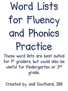 Use these words for phonics and speech therapy