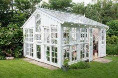 Claus jorgensen Selvbyggerdrivhus. Greenhouse - Hvor er det et smukt drivhus!