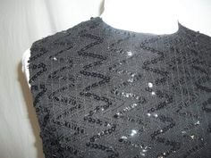 Vintage 1960s Black Sequined Sleeveless Tank Top by Reneesance, $15.00