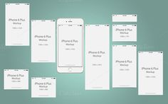 Perspective Mock Up Iphone 6 Plus by cromatixclassroom on @creativemarket