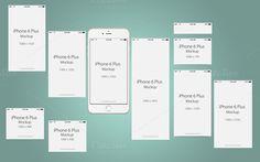 Perspective Mock Up Iphone 6 Plus by cromatixclassroom on @creativemarket