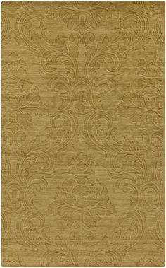 """Etching"" 100% Wool Rug by Surya in Citrine (ETC-4928)  A gorgeous rug no matter where you put it."