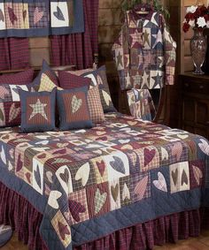 country primitive bedroom ideas | Country Bedding Sets & Country ... : primitive quilts wholesale - Adamdwight.com