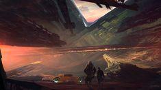 'South border' by Kuldar | Sci-Fi concept futuristic spacecraft | The Luminarium - International Artgroup