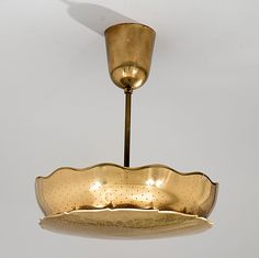 Paavo Tynell; Brass Ceiling Light for Taito Oy, 1940s.