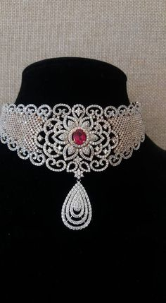 White Gold Diamond Necklace - Jewellery Designs