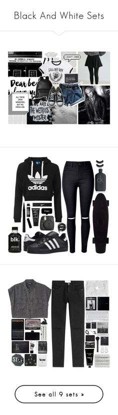 """Black And White Sets"" by silversh0t ❤ liked on Polyvore featuring WALL, Coach, Topshop, Converse, Ray-Ban, WithChic, adidas Originals, Bare Escentuals, NIKE and NARS Cosmetics"