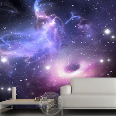 universe stars galaxy Ceiling or wall mural