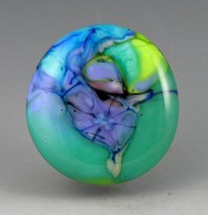 """Absyth""... glass CABOCHON handmade organic by Growing Edge Glass on Etsy,"