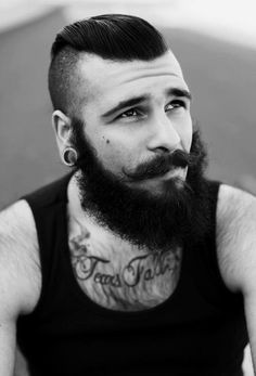Beards. Men. Ink. Steel.