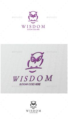 Owl Wisdom Logo,bird, club, focus, guardian, insomnia, knowledge, night, observation, owl, smart, studio, vision, wisdom