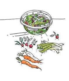 As vegetables lose moisture, their cell walls start to sag. To get them firm and crunchy again: Fill a large bowl with cold water and ice, add the vegetables, and let them soak for 15 to 20 minutes. Dry thoroughly before using. This method works with everything from fresh herbs and lettuce to carrots and radishes. (Slice first for maximum water absorption.)