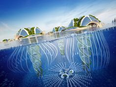 """Vincent Callebaut Imagines """"Oceanscrapers"""" 3D Printed from Recycled Trash"""