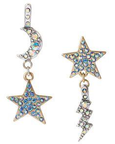 Betsey Johnson - STARGAZER MOON AND STAR DROP EARRING