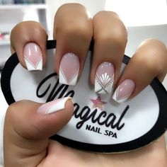 Cute Nail Art Designs, French Nail Designs, Short Nail Designs, Manicure Nail Designs, Ombre Nail Designs, Nail Manicure, Pretty Nail Art, Dream Nails, Super Nails