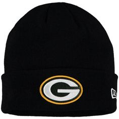 6f202da78 Men s Green Bay Packers New Era Black Solid Cuffed Knit Hat